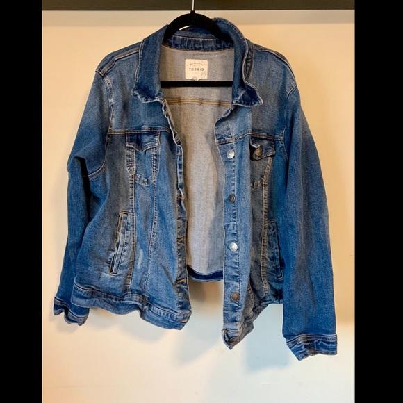 b6a73894aaa torrid Jackets & Coats | Plus Size Denim Jacket Good Stretch | Poshmark